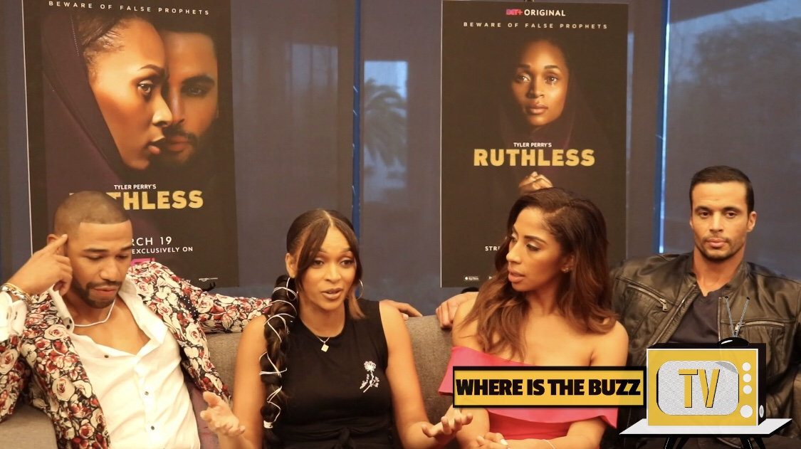 BET RUTHLESS INTERVIEWS| CAST TALKS WORKING WITH TYLER PERRY